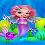 Cute Mermaid Girl Dress Up
