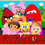 Famous Cartoon Characters Eggs