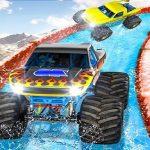 Monster Truck Water Surfing : Truck Racing Games